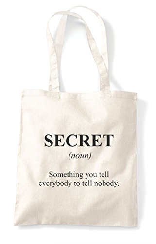 Bag Funny Tote Natural In Not Shopper Secret Alternative The Definition Dictionary gwqx87