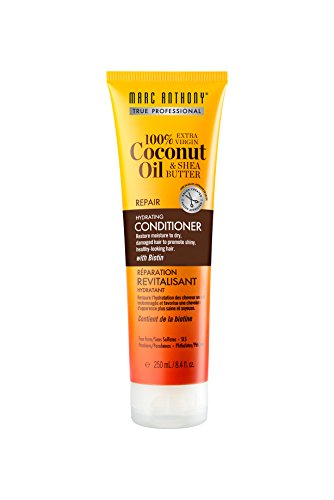 Marc Anthony 100% Extra Virgin Coconut Oil and Shea Butter Hydrating Conditioner, 8.4 Ounce Tube, Sulfate and Paraben Free, Hydrating Conditioner, Biotin Infused