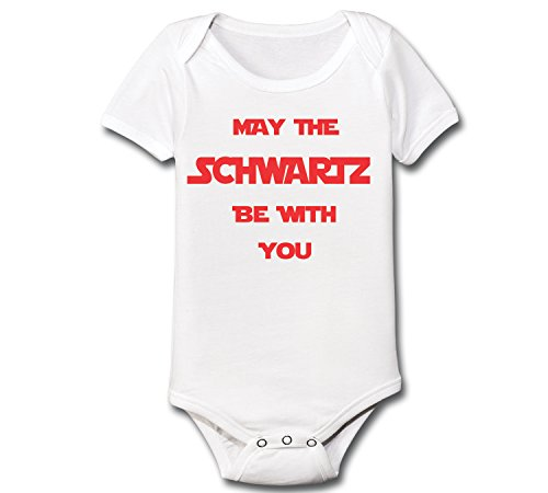Classic 80s Clothing (May The Schwartz Be With You Funny Space Spaceballs Balls Classic Comedy 80s 90s Movie Humor Baby One Piece 18 Months White)
