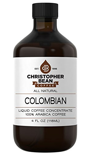 Colombian Cold Brew Or Hot Liquid Coffee Concentrate 4 Ounce Bottle