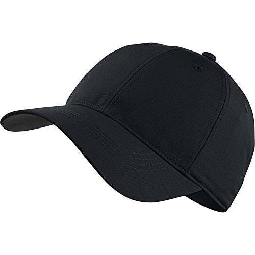 Nike Golf Tech Adjustable Blank Custom Hat Cap - Personalize With Your Own Team Or Business Logo (Black)