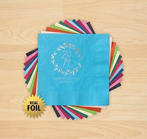(2019 Grad Wreath Foil Napkins - Set of 50-4220_HOL)