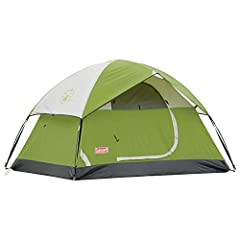The Coleman Sundome 2-Person Dome Tent is designed for quick and easy setup, so you can spend more time enjoying the outdoors. Great for camping in warm weather, this backpacking tent is designed with large windows and a ground vent to help p...
