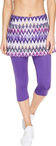 Skirt Sports Women's Lotta Breeze Capri Skirt, Sidewinder Print, Large