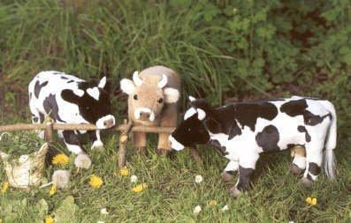 Amazon Com Kosen 14 Black White Cow Plush Stuffed Animal Toy Toys
