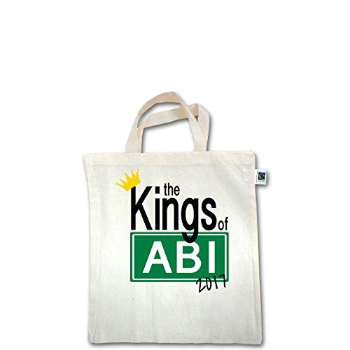 Abi & Abschluss - The Kings of Abi 2017 - Unisize - Natural - XT500 - Fairtrade Henkeltasche / Jutebeutel mit kurzen Henkeln aus Bio-Baumwolle