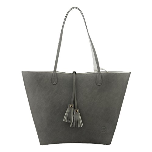 Minch K05 Pu Leather Designer tote purses and Handbags Bags for Women Work on clearance (Gray)