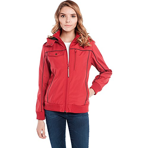 Baubax Travel Jacket - Bomber - Female - Red - Large by Baubax
