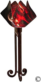 product image for Jezebel Signature Torch Light. Hardware: Brown with Brown Highlights. Glass: Azalea, Flame Style