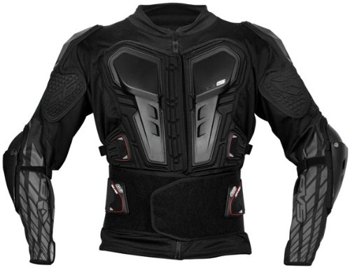 EVS G6 Adult Ballistic Jersey MX/Off-Road/Dirt Bike Motorcycle Body Armor - Black / Small