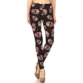 - 41OgWo8pFBL - Leggings Depot Women's Ultra Buttery Soft Halloween Print Fashion Leggings