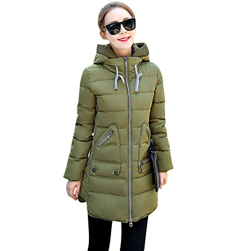 539868ae43ab Rela Bota Women s Winter Faux Fur Hooded Coats Down Parkas Anroaks Long Jacket  Overcoat