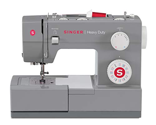 Singer | Heavy Duty 4432 Sewing Machine with 32 Built-In Stitches, Automatic Needle Threader, Metal Frame and Stainless Steel Bedplate, Perfect for Sewing All Types of Fabrics with Ease (Renewed)