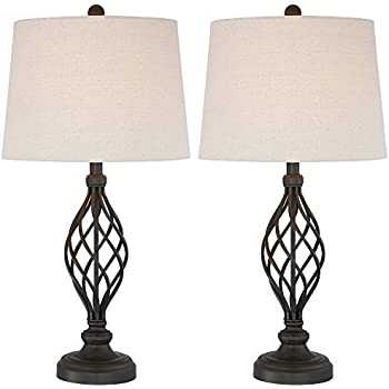 Annie iron scroll table lamps set of 2 amazon annie iron scroll table lamps set of 2 aloadofball Image collections
