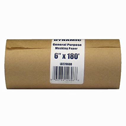 Dynamic Ld220600 6 Inch X 180 Feet Painter S Masking Paper Dispenser