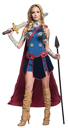 Secret Wishes Women's Marvel Universe Valkeryie Costume, Multi, (Nerd Superhero Costume)