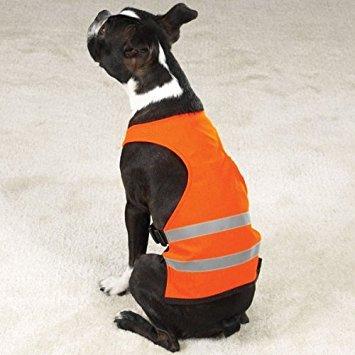 Dog Safety Vest - Bright Orange Reflective Safety Vest - X-Large (XL)