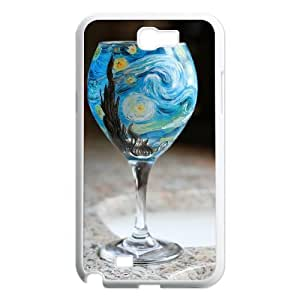 T-TGL(RQ) Print your own photo phone Case for Samsung Galaxy Note 2 N7100 cheap Wineglass case