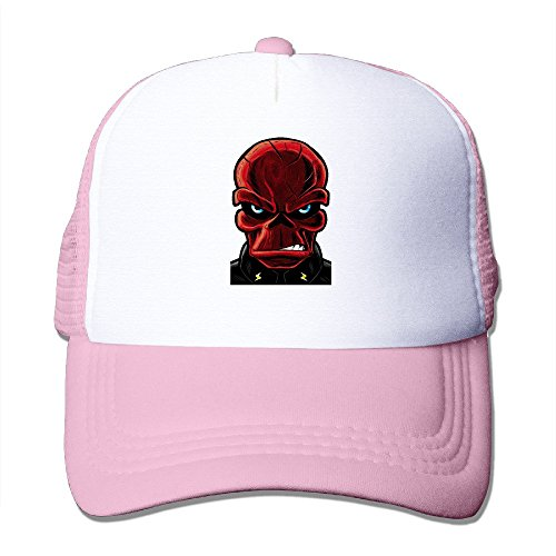Unisex Cap Pink Red Skull Jack Kirby France Herron Comic Trucker Hat Baseball Hat