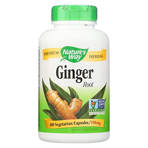 - Nature's Way Ginger Root, 550 Milligrams, 180 Capsules