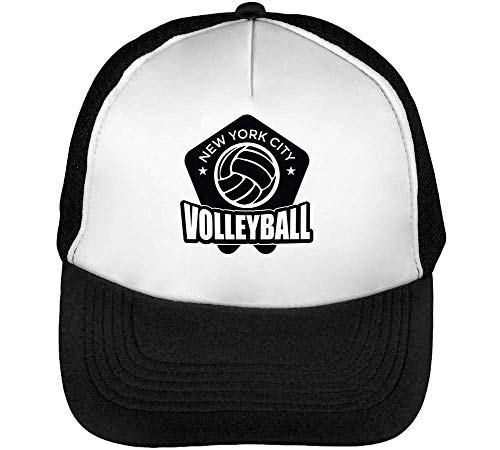 Sport Hombre Snapback Beisbol Gorras Volleyball Negro Blanco Badge Nyc qBxqZ6F