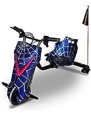 سكوتر دريفتنج كهربائي 48 فولت سوبر باور سكوتر 360 درجة سيارة انجراف عالية السرعة وبلوتوث وقابل للتعديل 3 عجلات للخارج ، مع مفتاح تشغيل ، لعبة الركوب في الهواء الطلق