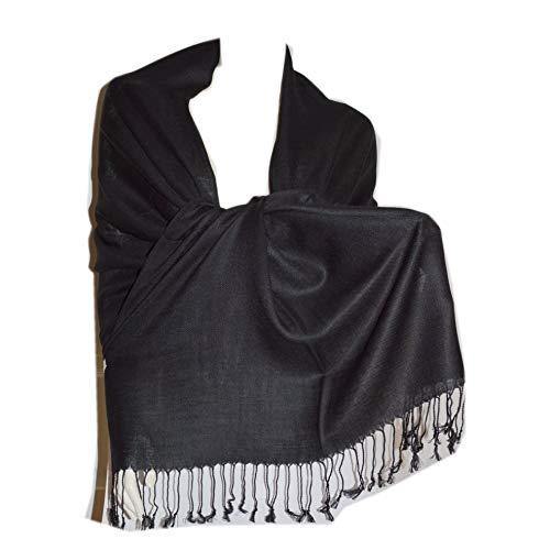 SCARF_TRADINGINC® Large Soft Twill Pashmina Scarf Shawl Wrap