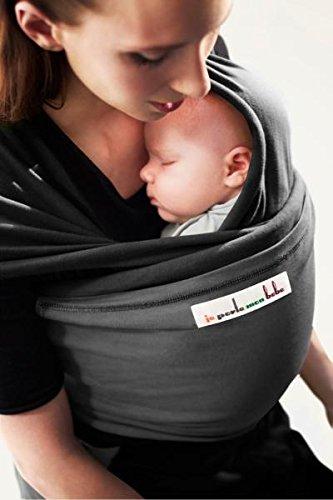 je porte mon bébé EL1012 Echarpe de Portage l'Originale Noir JPMBC