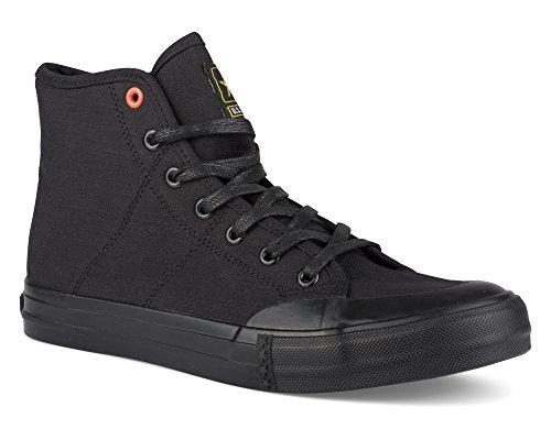 (US Army Men's Ripcord Hi-Top Camo Canvas Fashion Sneaker, Ripcord HI Black, Size)