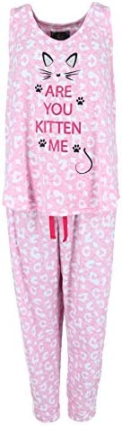 PJCouture Women's Plus Size are You Kitten Me 2 Piece Jogger Tank