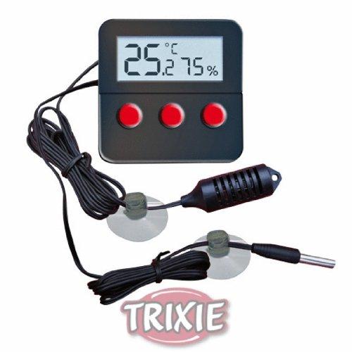 Trixie 76114 Digital Thermometer und Hygrometer für Terrarium, fernfühlend