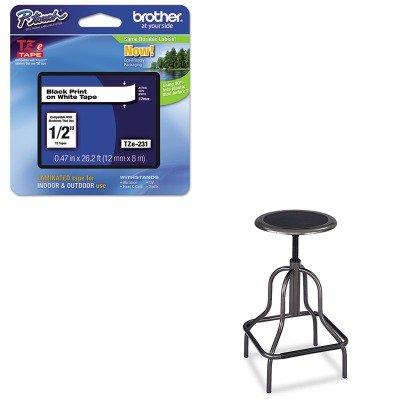 KITBRTTZE231SAF6665 - Value Kit - Safco Diesel Backless Industrial Stool (SAF6665) and Brother TZe Standard Adhesive Laminated Labeling Tape (BRTTZE231)