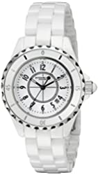 Stuhrling Original Women's 'Vogue' Quartz Stainless Steel Casual Watch, Color:White (Model: 530.11EW3)