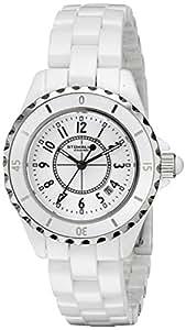 Stuhrling Original Fusion 530 Women's Quartz Watch with White Dial Analogue Display and White Ceramic Bracelet 530.11EW3