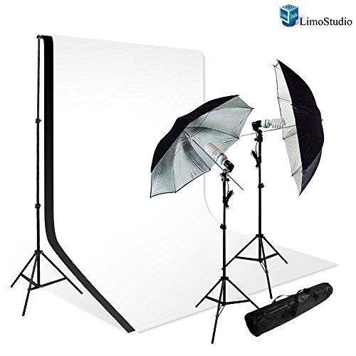 LimoStudio New Photo Photography Video Studio Umbrella Continuous Lighting Light Kit Set - 2x Lighting Stand (Certified Refurbished) by LimoStudio
