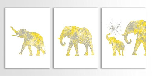 elephant-family-elephant-nursery-decor-gray-and-yellow-set-of-three-limited-edition-watercolor-art-p