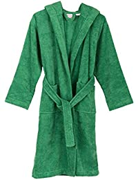 TowelSelections Big Boys' Robe, Kids Hooded Cotton Terry Bathrobe Cover-up Size 8 Jelly Bean