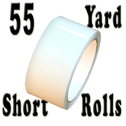 """Tape Brothers Carton Sealing Tape 2"""" x 110 yds or 55 yds 2 mils, several colors (White-55yds)"""