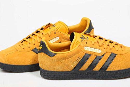 adidas Herren Gazelle Super Gymnastikschuhe Grau (Tactile Yellow F17/carbon S18/off White)