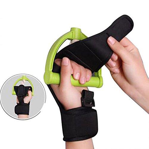 (Denshine Finger Splint Brace Ability, Finger Rehabilitation Anti-Spasticity Auxiliary Training Gloves for Stroke Hemiplegia Patient Hand Training [Single Hand])