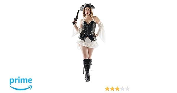 121cce0e688 Starline Women's Plus Size Black Pearl Sexy Pirate Costume