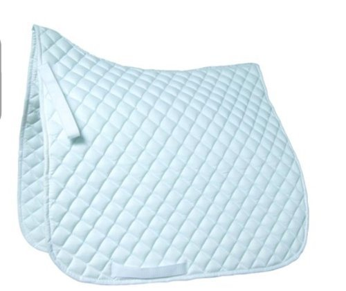 Roma High Wither Quilted Dressage Pad - Size:Full Color:White