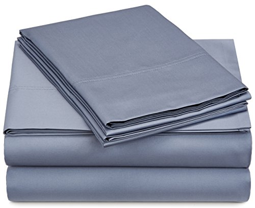 500 Tc Pillow - Pinzon 500-Thread-Count Pima Cotton Sateen Sheet Set - Full, Flint Blue