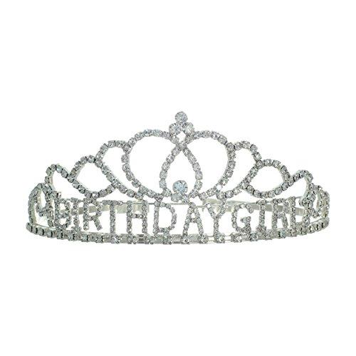 Rosemarie Collections Women's Birthday Girl Rhinestone Tiara Crown