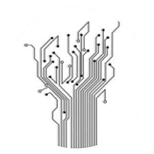 alfombrilla de ratón Resumen árbol de circuito con la sombra - ronda - 20cm