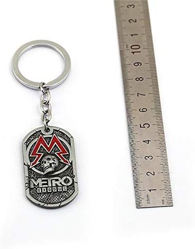 Amazon.com: PC Game Metro Exodus 2033 Keychain Dog Tag Metal ...