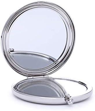 ポータブル小型ミラー折りたたみ化粧鏡クリスタルドリル、バレンタインデーのギフト JZ02/25