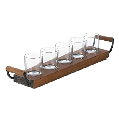 Home Decor Wooden Tray Candleholder