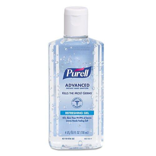PURELL Instant Hand Sanitizer, 4-oz. Flip-Cap Bottle - Includes 24 per case.