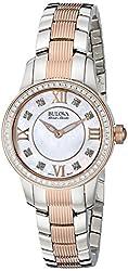 Bulova Accu Swiss Women's 65R152 Diamond Two-Tone Watch